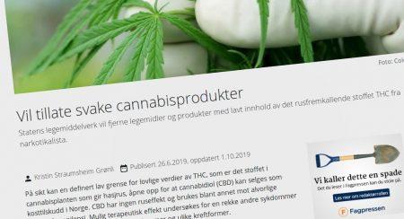 Vil tillate svake cannabisprodukter