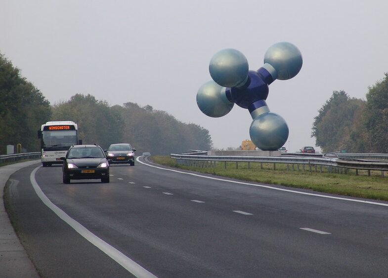 Biler på nederlandsk motorvei